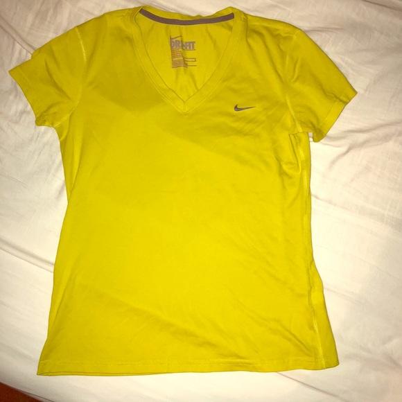 Nike Dri Fit Tee Bright Yellow Womens